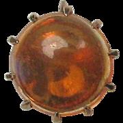 SALE PENDING Antique Victorian 10K Gold Mexican Fire Opal Stick Pin