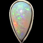 Antique Edwardian 14K Gold Teardrop Opal Stick Pin