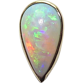 Antique Edwardian 14K Gold Teardrop Opal Stick Pin
