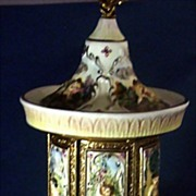 SOLD Exquisite Hand-Paint Revolving Musical Automated Cigarette Dispenser, Carousel ~ From Ita
