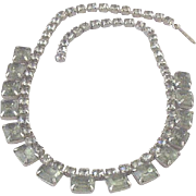 SALE Vintage Prong-Set Faceted Glass & Rhinestone Collar Necklace