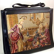 SOLD Soure' Bag New York ~ Trapunto Handbag ~ Ladies in Drawing Room