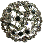 SALE Juliana Grey Navette and Marquis Rhinestone Pin