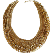 Trifari Gold-Tone Vintage Chain Necklace