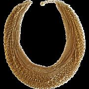 Trifari Gold-Tone Vintage Chain Necklace