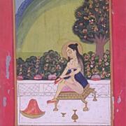 Antique Indian Miniature Painting c1850