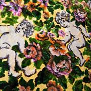 SALE Italian WEDDING Cut Velvet Bedspread..Throw..Tablecloth..Rug...Excellent Condition!