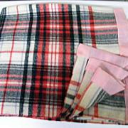 "Royal Stuart Plaid  Wool Blanket..91"" x 76"""