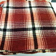 "Wine Plaid Wool Blanket By FARIBO...84"" Long X 74"" Wide"