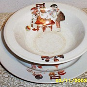 Child's Cereal  And Dish  Set  Syracuse China  O.P. Co.