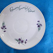 Cup/Saucer Sets & 3 Creamers From Bermudiara Harmony Hall Belmont Hotel..Violets..Wedgwood