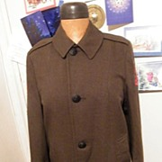 SALE Very Vintage Marine Corp..Woman's..Full Length..Olive Green Wool..Badegs..Name Tape..Size
