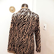 SALE Faux Zebra Coat By DMBM...Store Tags..New Condition..Soft & Silky Faux Fur..Size Large