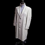 SALE Ratazzi...Men's Winter Over-Coat..Off White Wool..Size 42