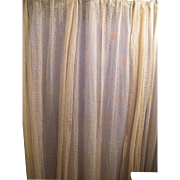 Early 19th Century Lace Curtains / Drapes..Set of 3 Panels..Ivory