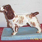 Spaniel Dog Ceramic Planter Or Bookend....Very Special!