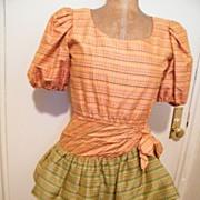 DESIGNER..Oscar DeLaRenta Studio..Cha-Cha..Dress..Thai Silk Tattersol..Size 6