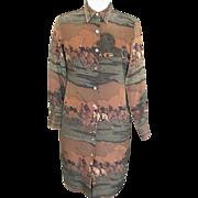 Lauren By Ralph Lauren...Equestrian Silk Shirtdress / Sheath..Size 6..Excellent Condition