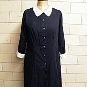 SALE PENDING Maid's Dress With White Eyelet Collar & Cuffs By White Swan..USA
