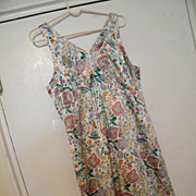 PARIS SLIP DRESS..Printed Silky Satin Paisley in Eastern Paisley Design..Lined..By Identity Pa