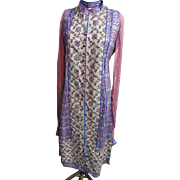 Ethnic Dress / Tunic..Red / Beige / Turquoise..Print / Solid/ & Embroidery