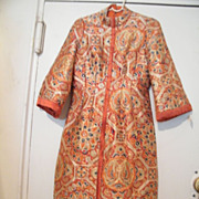 SALE Designer Quality Chinese Brocade Dress...Exceptional!