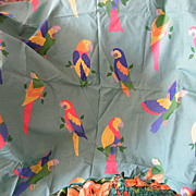"""SALE PENDING PARROT Design Printed Drapery Fabric By Laura Ashley..2 Yds 20""""..Cotton..Nev"""
