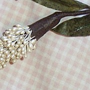 Hand Made Pearl Spray Bud On A Long Wire Stem