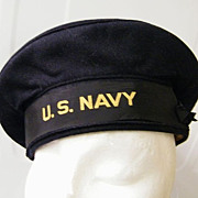 SALE PENDING United States Navy 1940's Navy Wool Hat / Cap..Excellent Condition