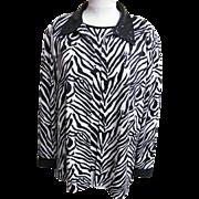 Jacket & Sleeveless Top Coordinate..Zebra Print..Sequins..Formal..Size X Large..Korea..Excelle