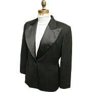 Tuxedo Jacket..Wide Lapels..Black Wool... ABS..Size L..Made In California..NWT