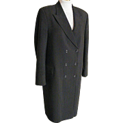 SALE Men's Dress Formal Chesterfield Style Coat..Black Polyester Crepe Satin Stripe..Size 38 L