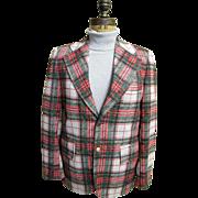 SALE Men's Tartan Plaid Polyester Double Knit Sports Coat / Jacket..1960's - 70's ...