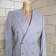 SALE LeMans By Carl Davis..Light Gray Suit / Sports Jacket Of Light Gray Wool..Italy ...