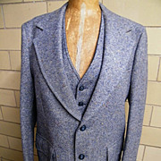 SALE Classic Tweed Men's Sports Coat Jacket With Matching Reversible Vest..Palm Beach..Size 42