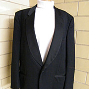 SALE Pierre Cardin Men's Tuxedo Jacket..Black..Unique Diamond Dobby Weave..Shawl Satin Collar.