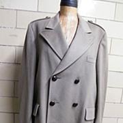 SALE Vintage Men's Camel Color Military Style Coat By Daks London For Barney's New York