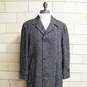 SALE ROBERT HALL Men's Winter Coat..Zip-Out Wool Plaid Lining