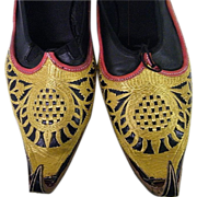 Appeared In New York City Opera HAROUN 2004..Men's Traditional Maharajah Shoes..Hand-Made..Cap