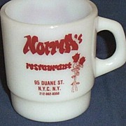 Vintage Norma's Restaurant Advertising Mug...Duane Street..N.Y.