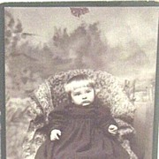 Victorian..Child With A Pout..Cabinet Photo..Seated On Oriental Rug