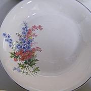 Universal Cambridge Dessert Set...Serving Bowl Plus 4 Cups..Floral Spray