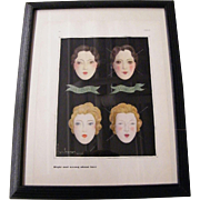 Vogue Magazine Print..Illustration...Signed Georges Lepape..1931..Make Up..Right & Wrong About