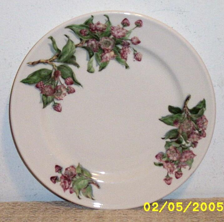 "Vintage Lamberton 9.5"" Plate..Mountain Laurel.. For Pocono Manor Inn..Sterline..Ivory"