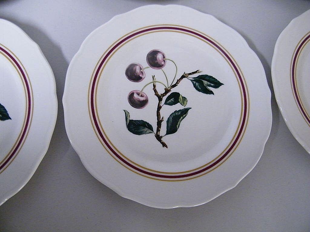 "Syracuse..Restaurant China CHERRY BRANCH Dinner Plates..10.5""..Border ..."