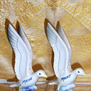 SALE PENDING Maine... Seagull Salt And Pepper Shakers...