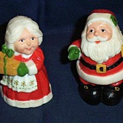 Mr. & Mrs. Santa  Pepper And Salt Shakers By Hallmark Cards