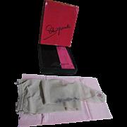 "Designer Schiaparelli Silver Embroidered GALA Nylon Panty Hose...Petite Size 5' - 5'3""..3 Pair Available"