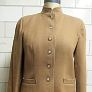 Mid-Century JAEGER Of London Camel Hair / Wool Women's Suit..Size 14