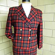 Brooks Bros Wool Royal Stuart Tartan Clan Plaid Suit With Box Jacket...Excellent Condition!
